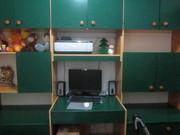 Продам детскую стенку зеленого цвета в комплекте шифоньер,  25000 тенге
