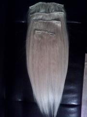Волосы на заколках,  наращивание волос безопасным методом в Уральске